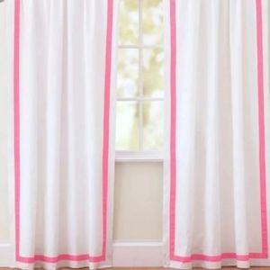 "FIRM!! 1 Pottery barn Teen drape 108"" hot pink"